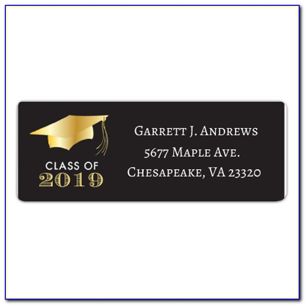 Return Address Label Template Graduation