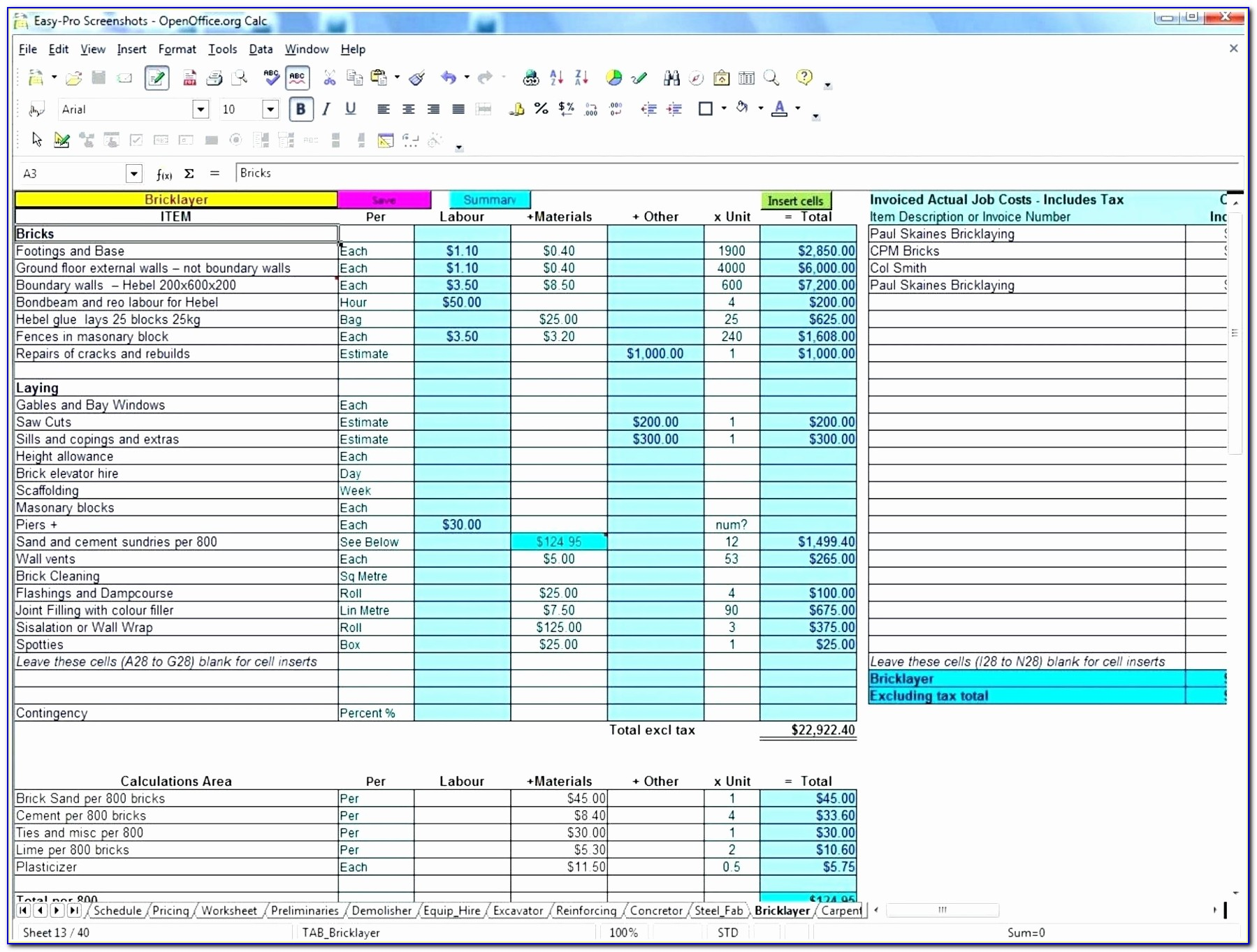 Free Excel Construction Templates Inspirational Template Excel Construction Bid Template Estimate Inspirational 9