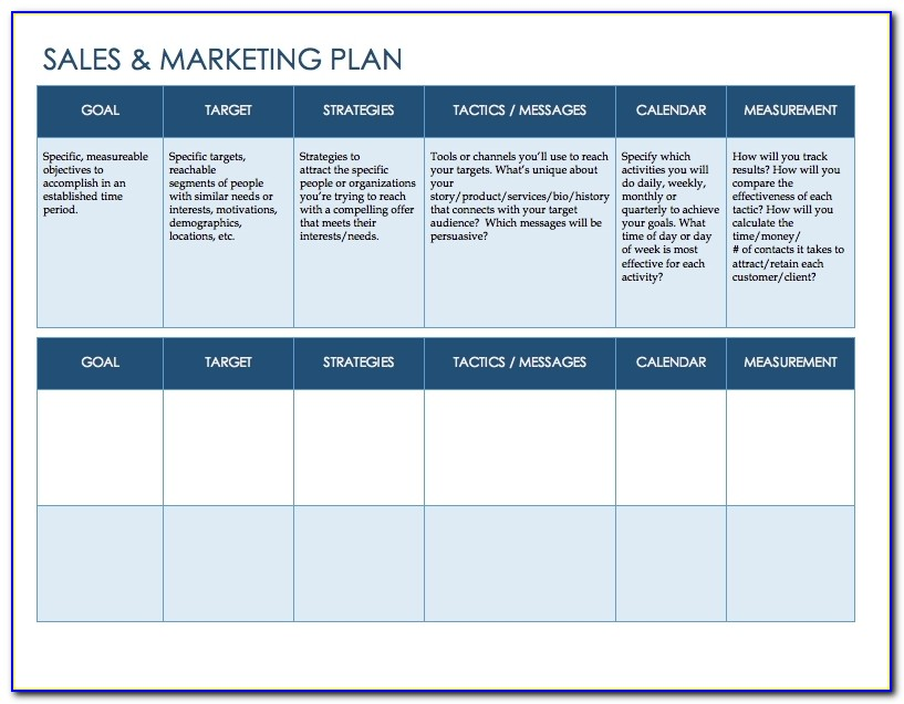 Free Sales Plan Templates Smartsheet With Regard To Sales Strategy Presentation Template