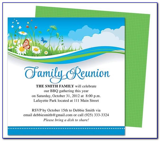 Sample Family Reunion Theme