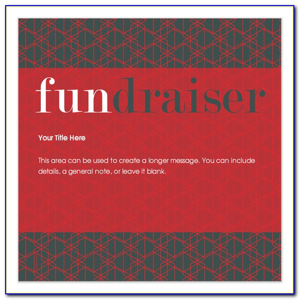 Save The Date Fundraiser Template