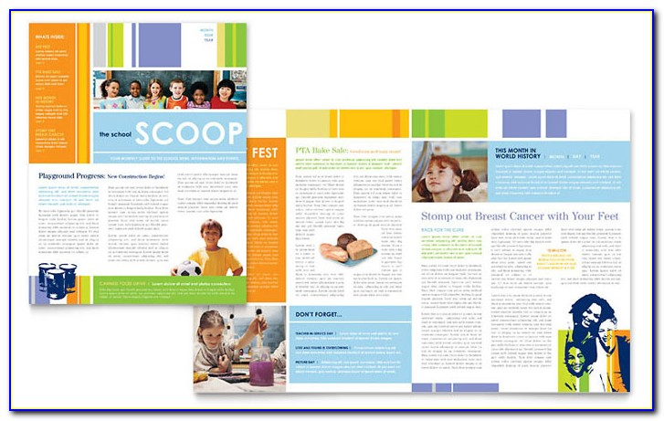School Newsletter Templates Editable