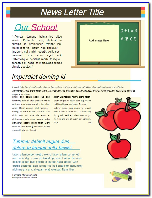 School Newsletter Templates Indesign