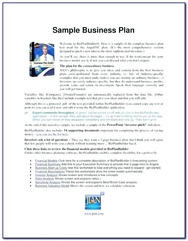 Simple Restaurant Business Plan Template Pdf