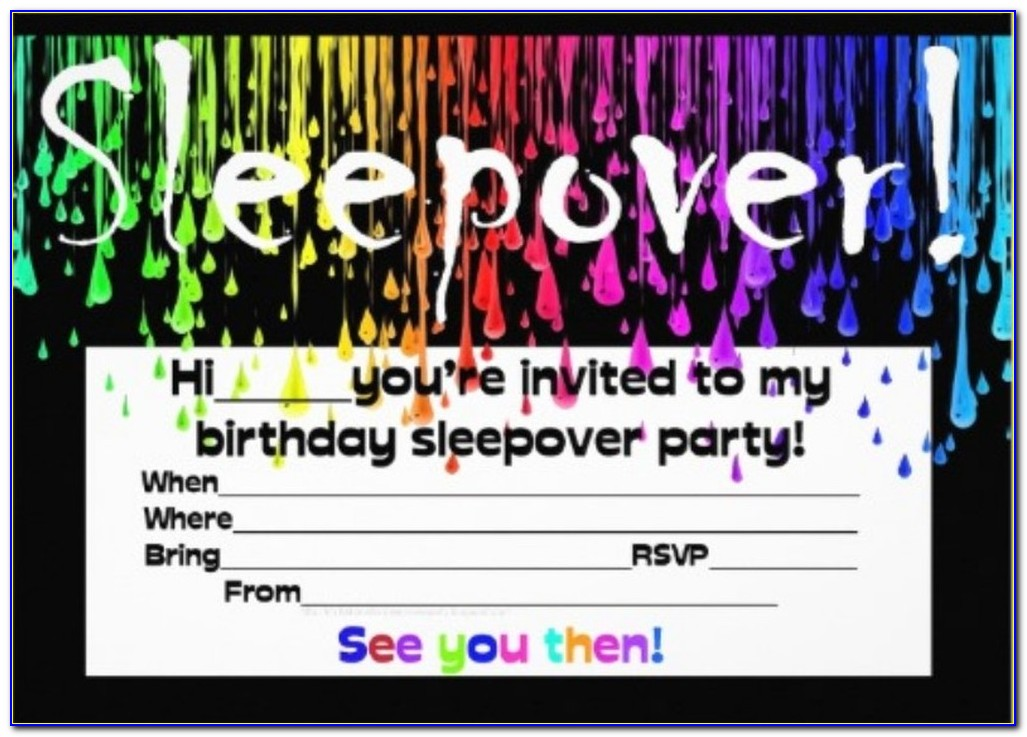 Slumber Party Invitation Cards