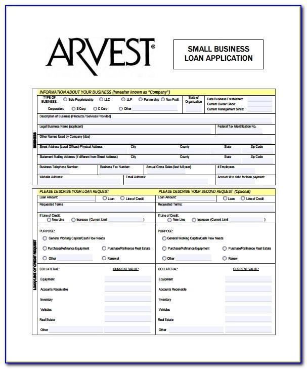 Small Business Loan Sample