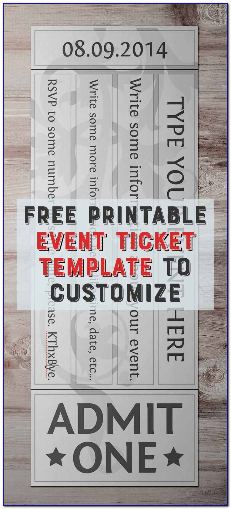 Free Printable Event Ticket Template