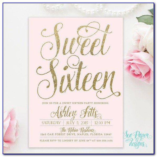 Sweet 16 Invitations Wording Templates