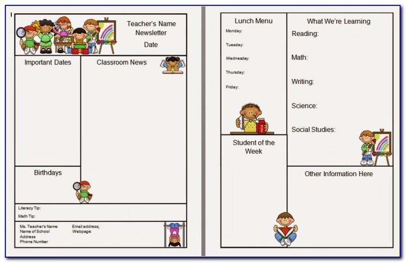 Teacher Newsletter Templates Google Docs