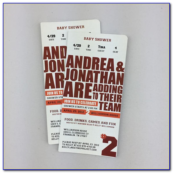 Template For Sporting Event Ticket