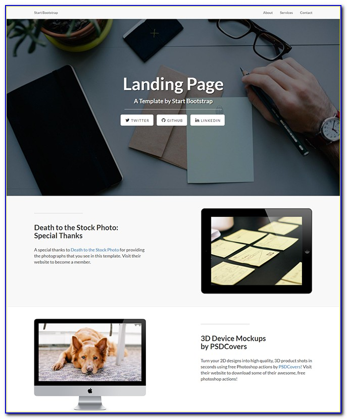 Template Landing Page Free Html