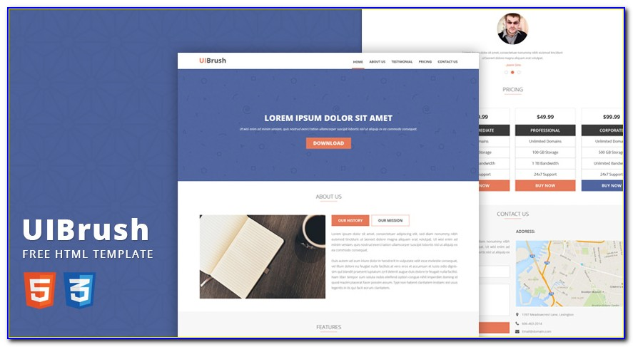 Template Landing Page Free Psd