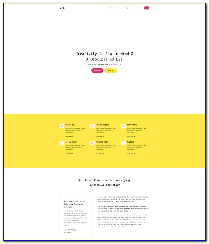 Template Landing Page Responsive Free