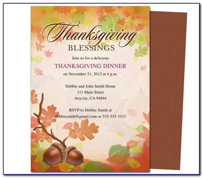 Thanksgiving Invitation Letter Template