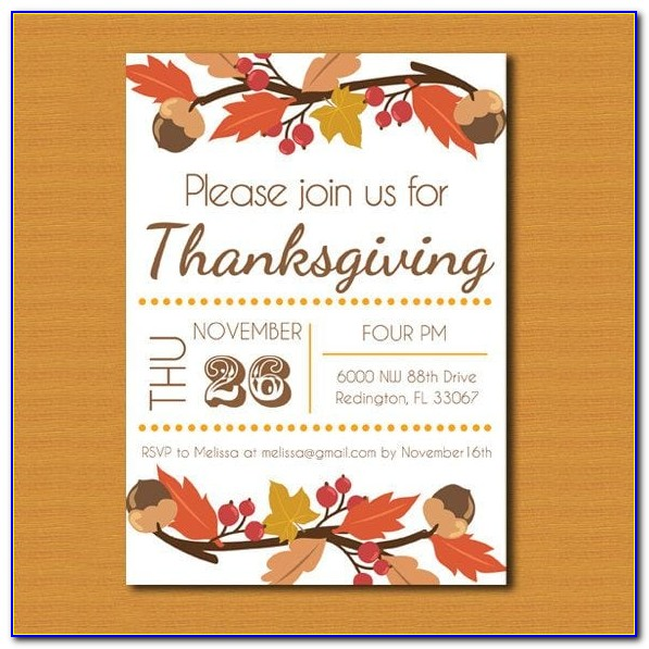 Thanksgiving Invitation Template Online