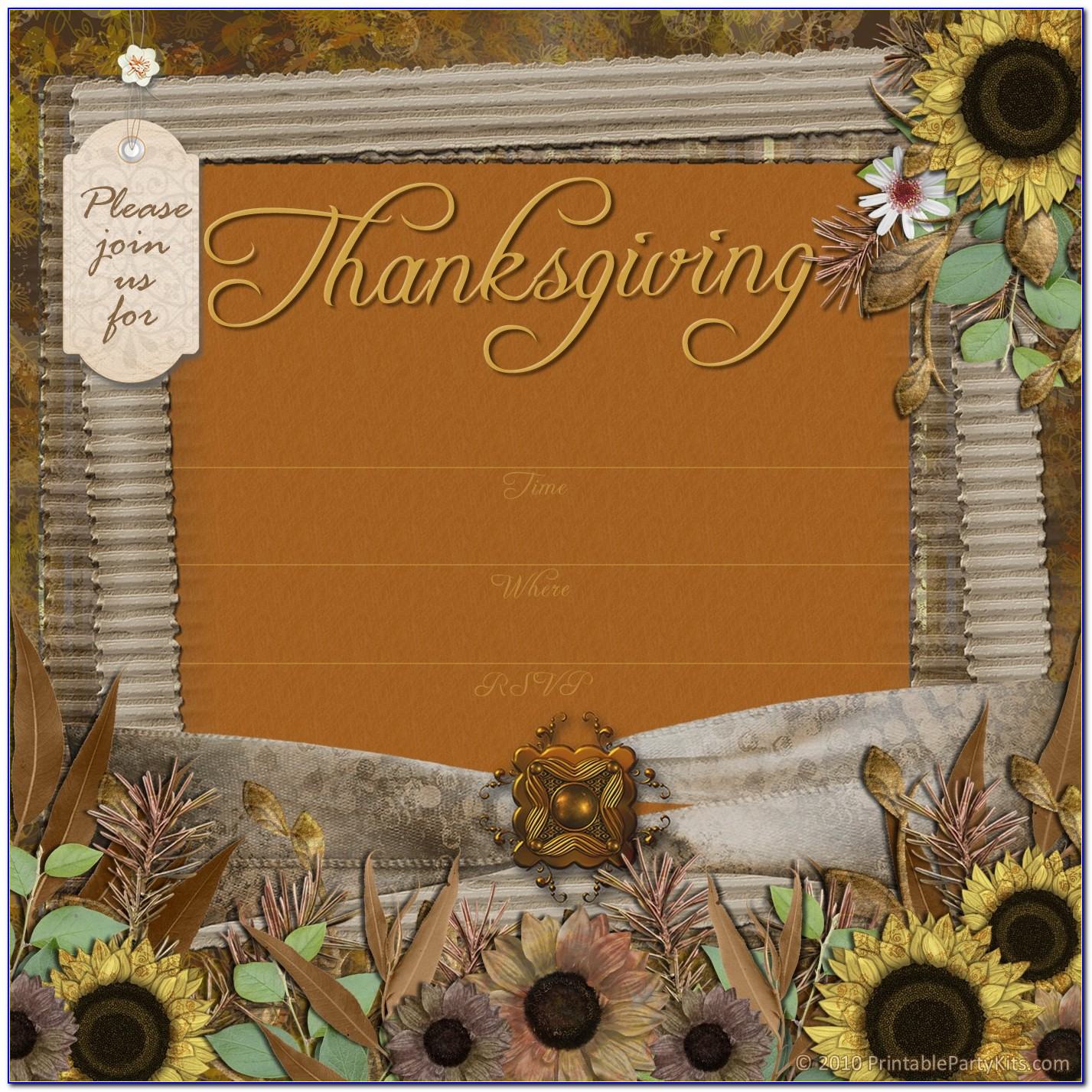 Thanksgiving Invitation Template Word