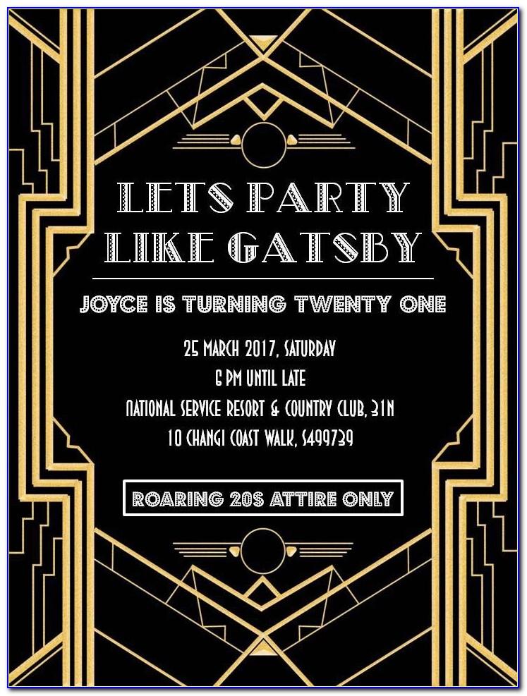 The Great Gatsby Invite Template