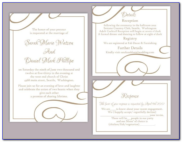 Wedding Invitation Template Free Download Psd
