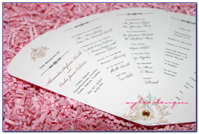Wedding Program Fan Template Word