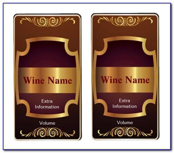Wine Label Template Free Psd
