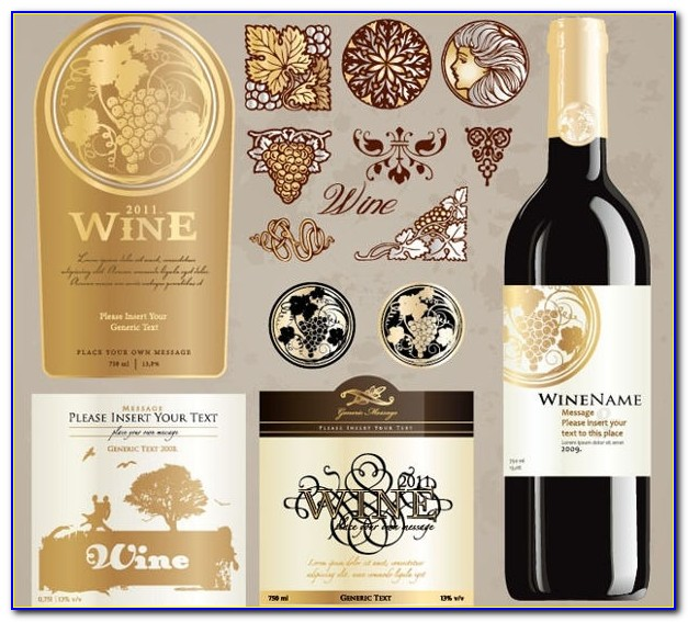 Wine Label Template Free Word
