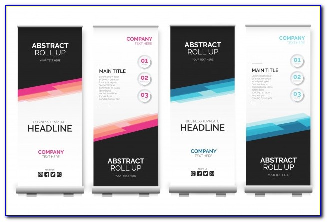 33x80 Retractable Banner Template