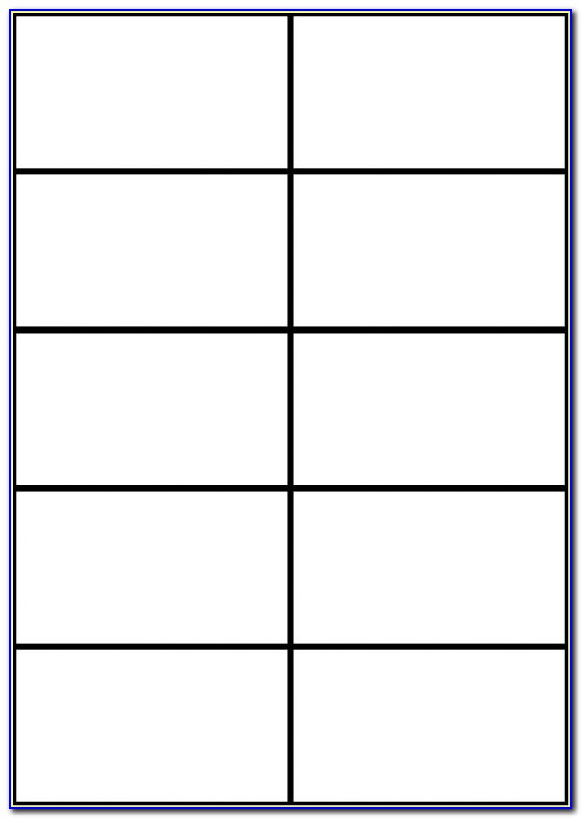 3x5 Card Template Google Docs