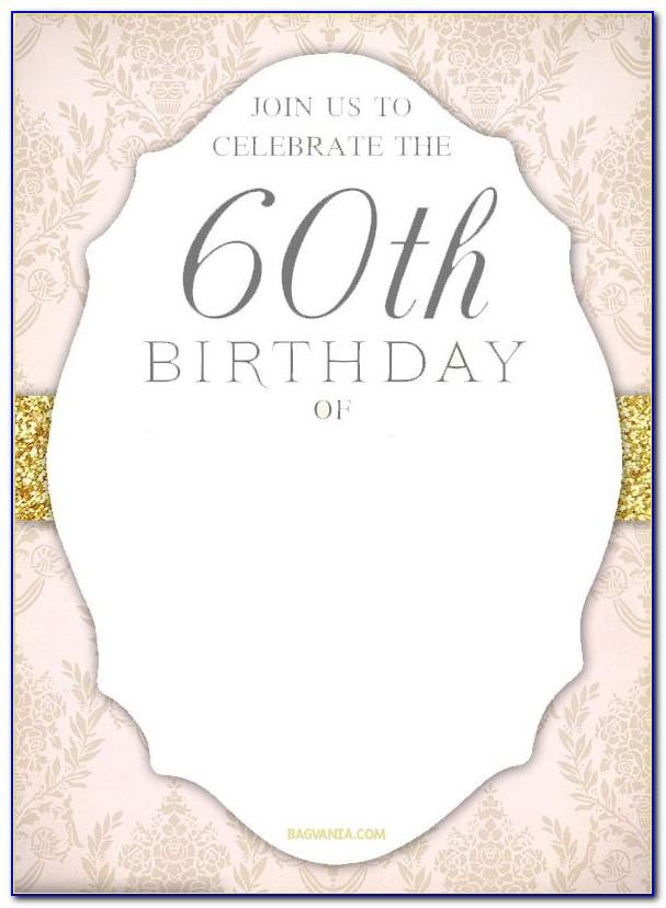 60th Birthday Invitation Layout