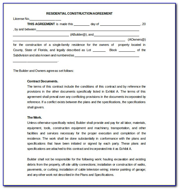 Aia Construction Contract Template