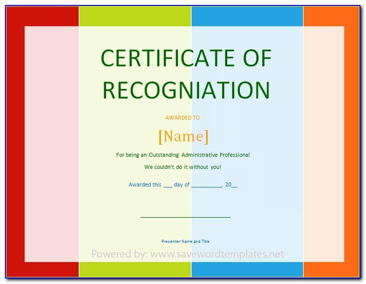 Appreciation Certificate Template Free Download