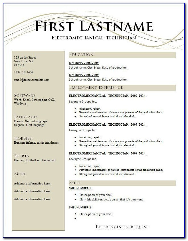 Attractive Resume Templates Free Download Pages