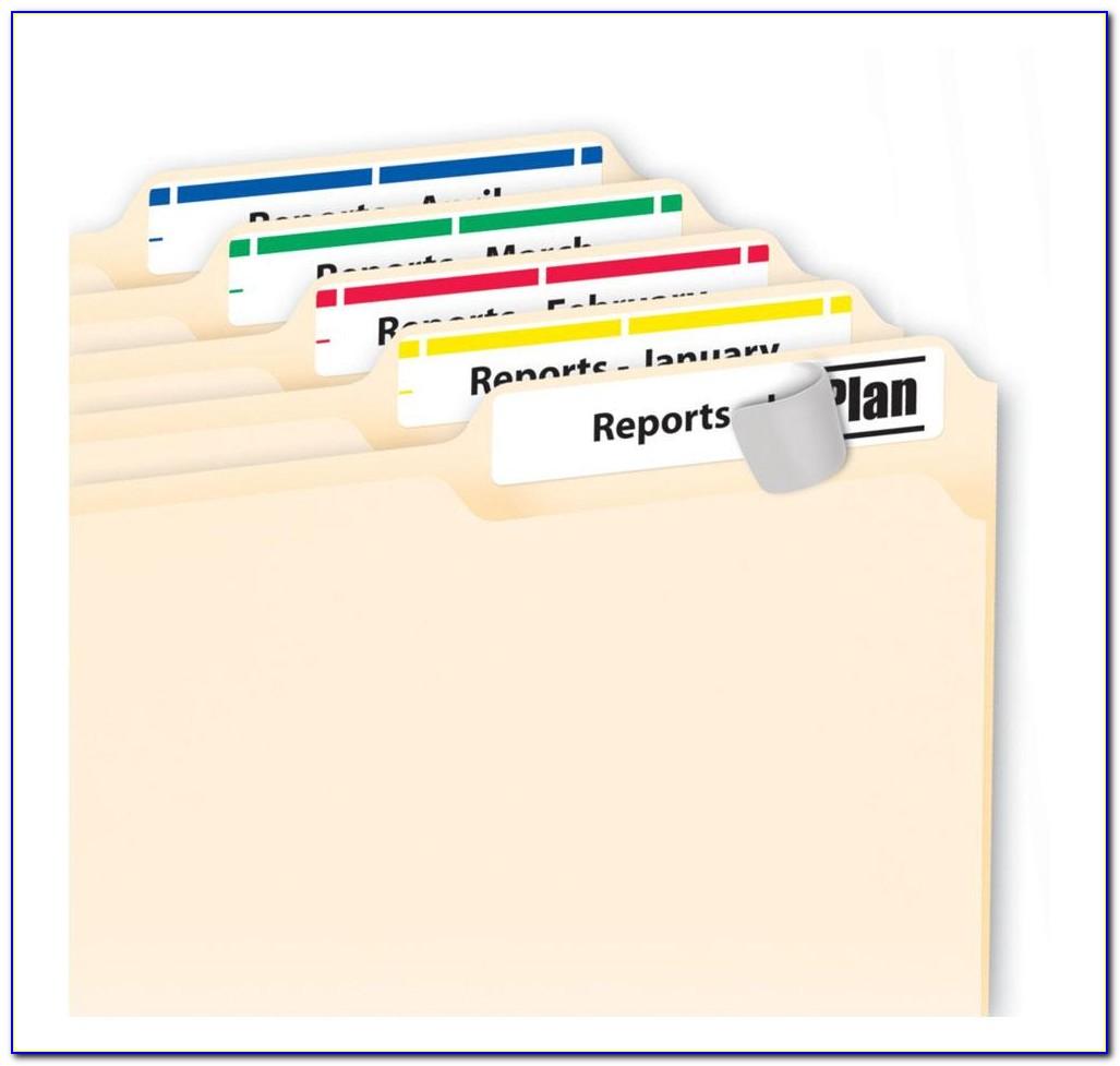 Avery File Folder Labels Template 5066