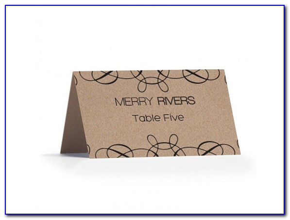 Avery Flat Place Card Template