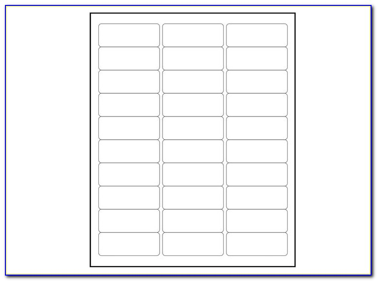 Avery Return Address Labels Template 30 Per Sheet