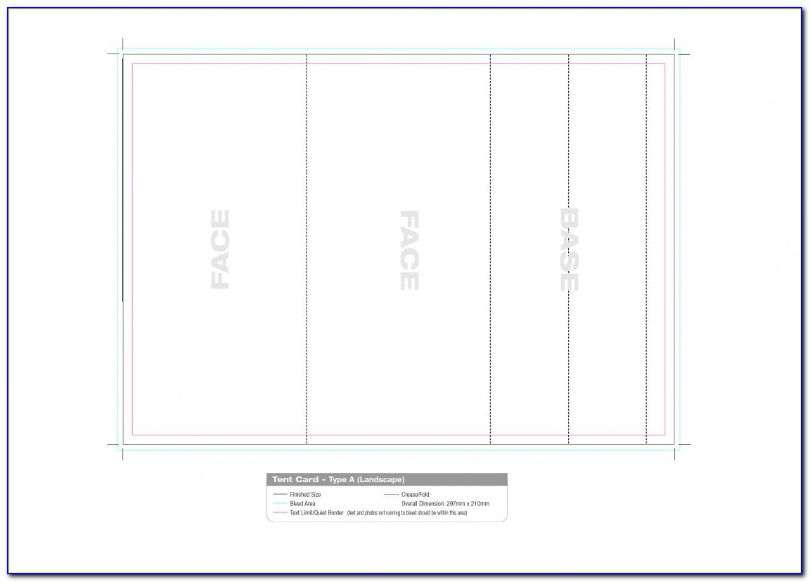 Avery Table Tent Template 5302