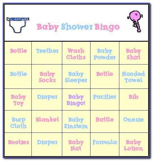 Baby Shower Bingo Cards Elephant