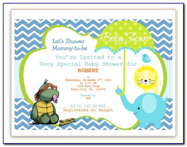 Baby Shower Invitation Microsoft Word Template
