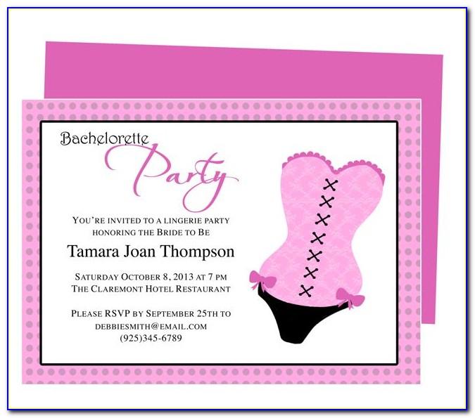 Bachelorette Party Invitation Templates Free