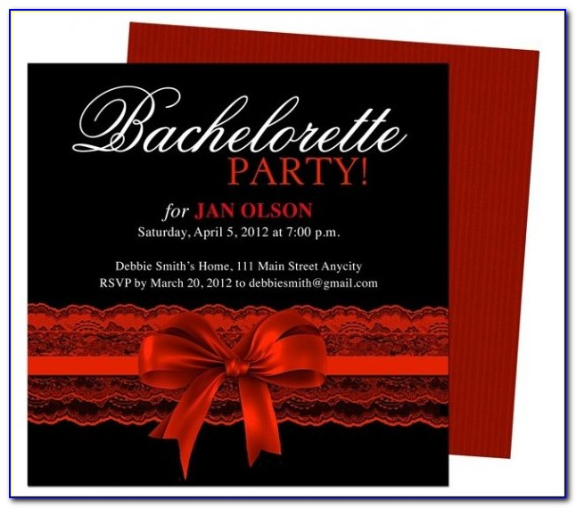 Bachelorette Party Invitation Wording Samples