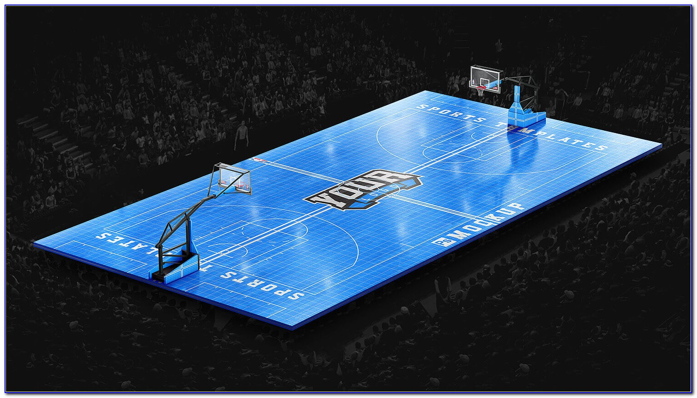 Basketball Court Photoshop Template