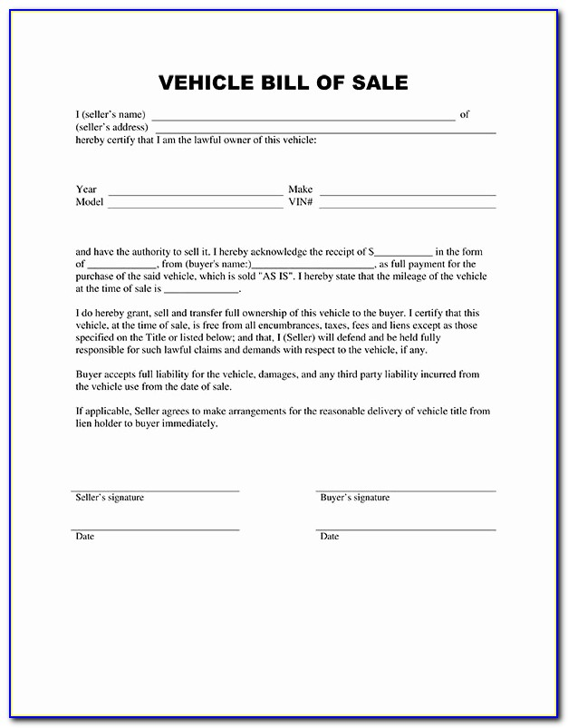 Car Bill Of Sale Colorado Luxury Free Printable Vehicle Bill Of Sale Template Form Generic