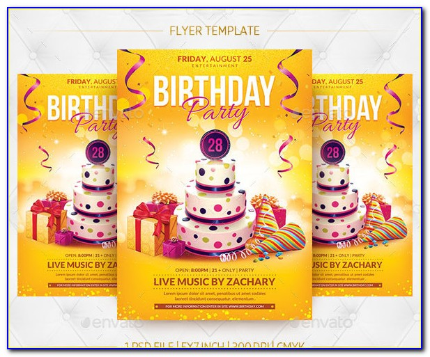 Birthday Flyer Template Publisher