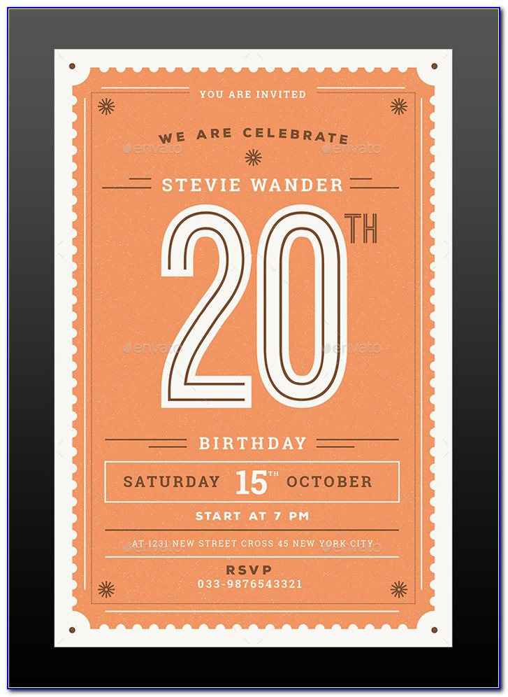 Birthday Invitation Card Template Free Download Psd
