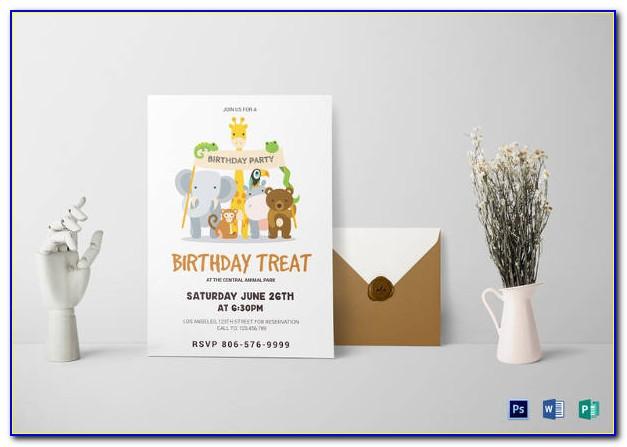Birthday Invitation Card Template Pdf