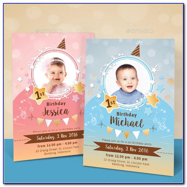 Birthday Invitation Card Template Unicorn