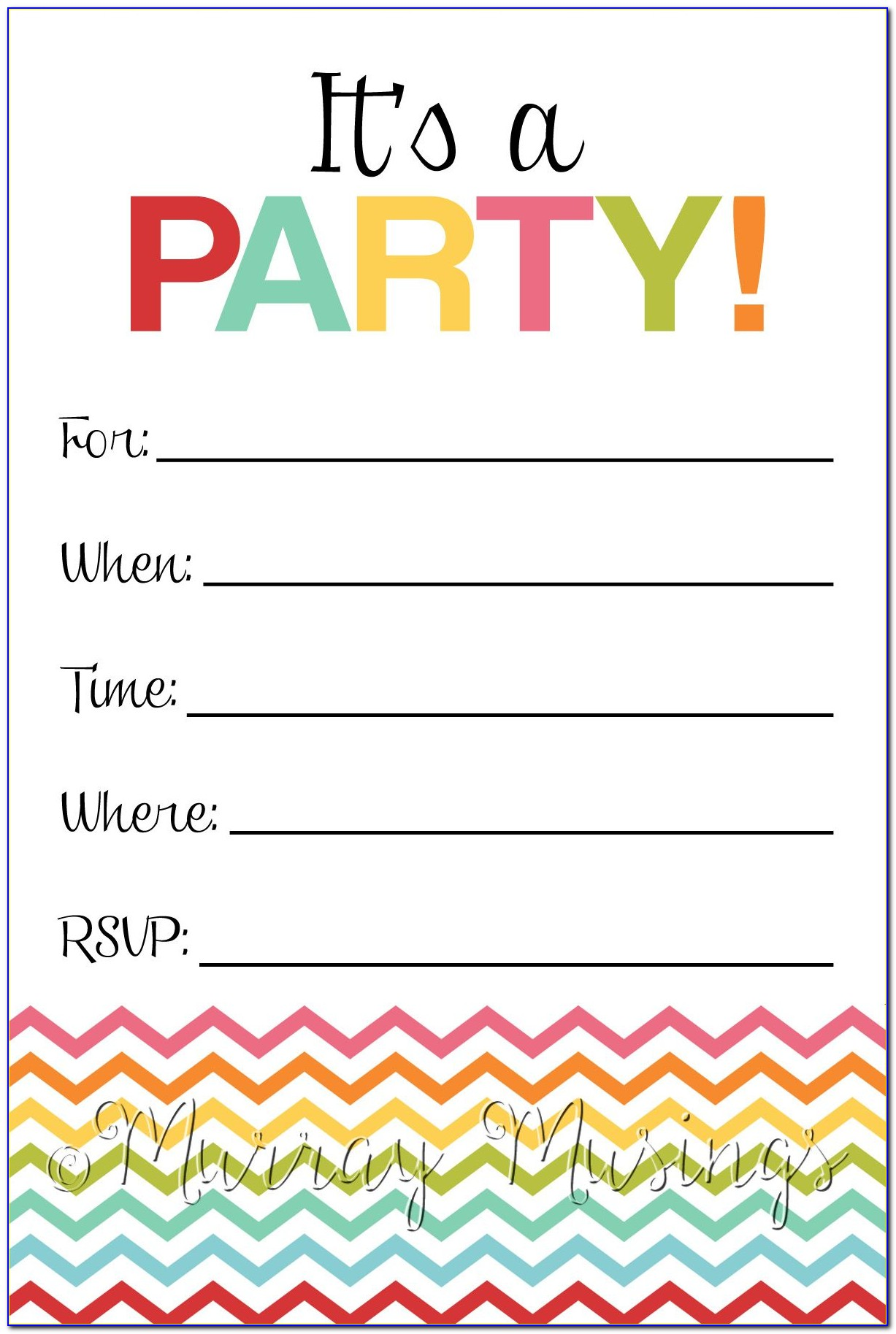 Birthday Party Invitation Templates Frozen