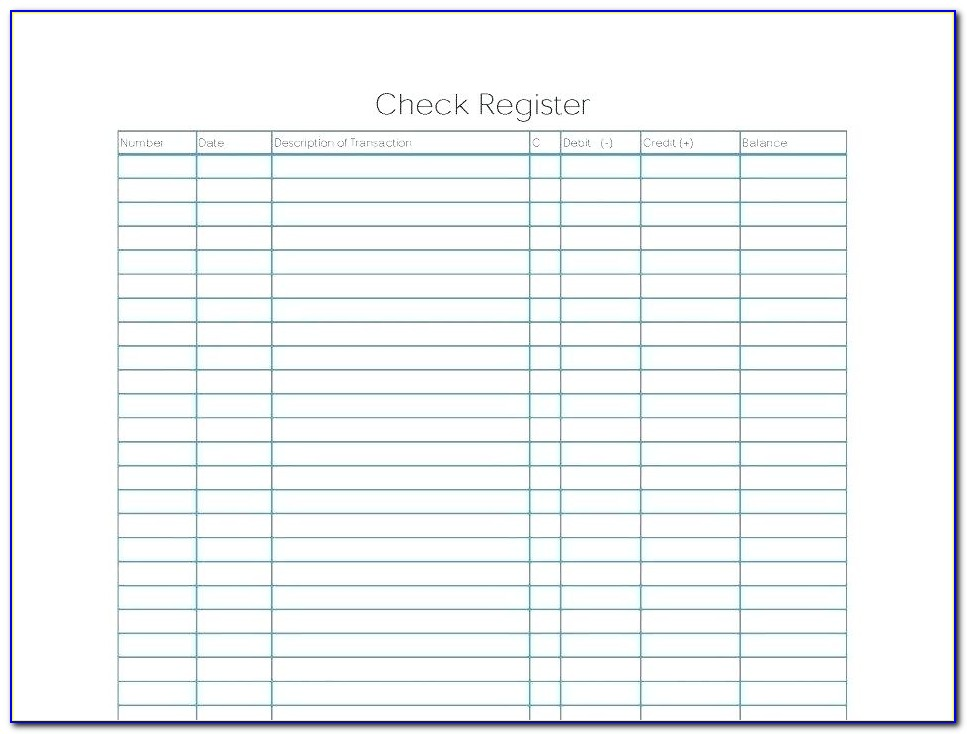 Blank Business Check Template Word Document