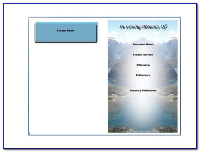 Blank Funeral Program Template Free Download