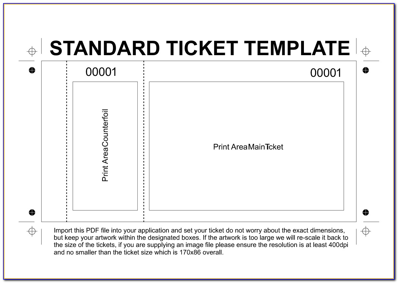 Blank Ticket Template Clipart