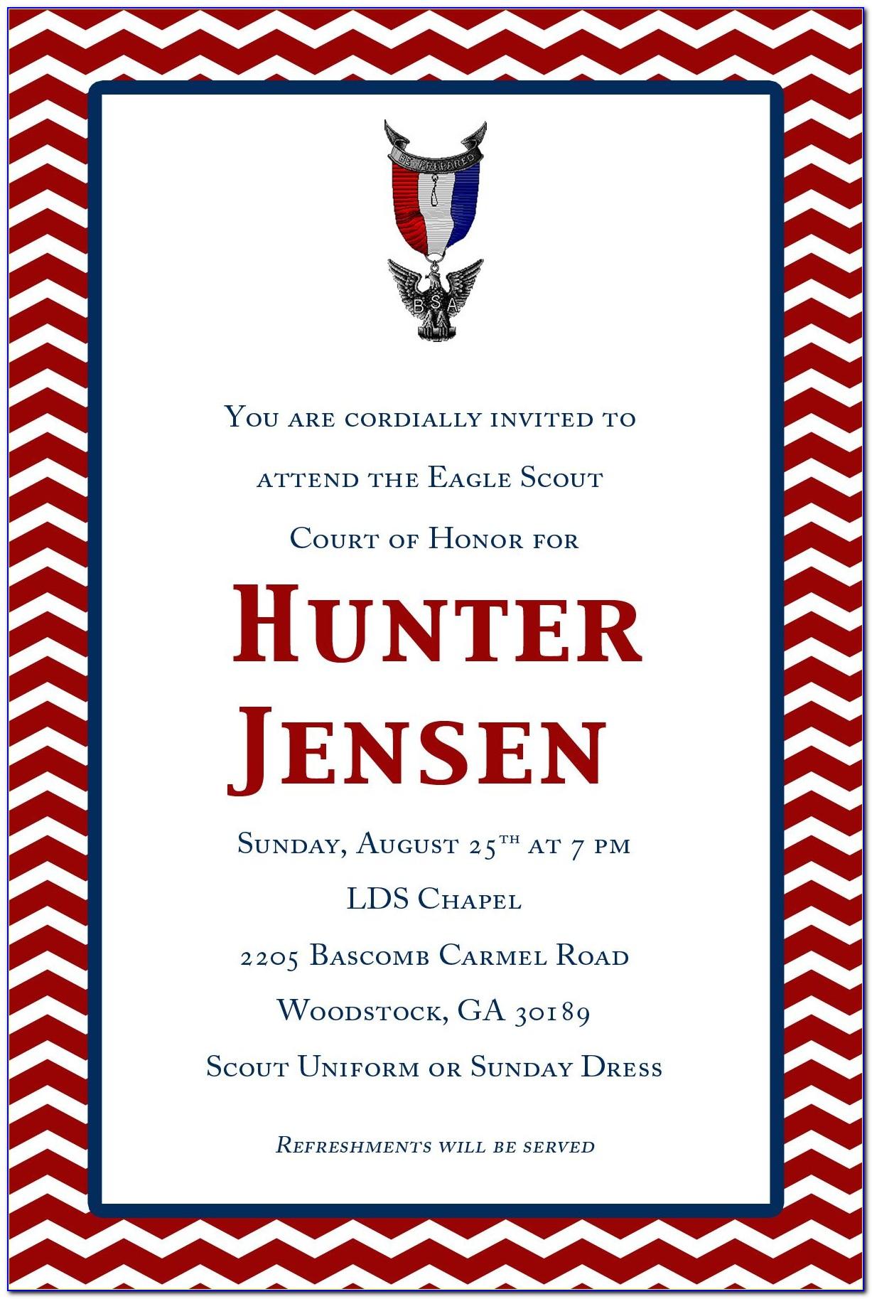 Boy Scout Invitation Template